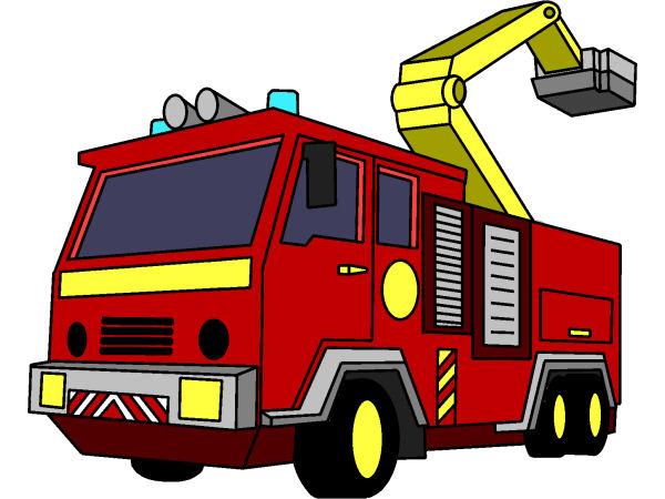 Coloriage Gratuit A Imprimer Camion De Pompier